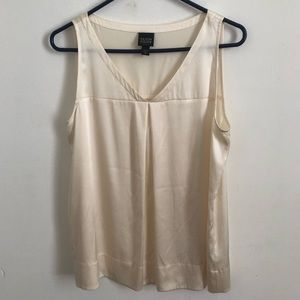 Eileen Fisher PM silk career tank champagne color
